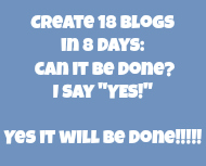 18 Blogs In 8 Days