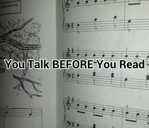 You Talk Before You Can Read